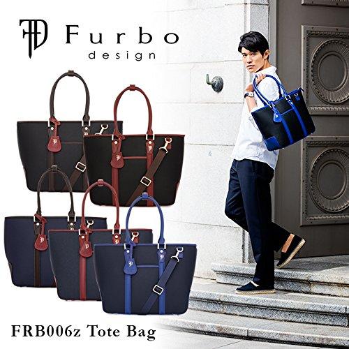 (フルボデザイン)Furbo design トートバッグ FRB006Z ミラノ ネイビー×ブラウン