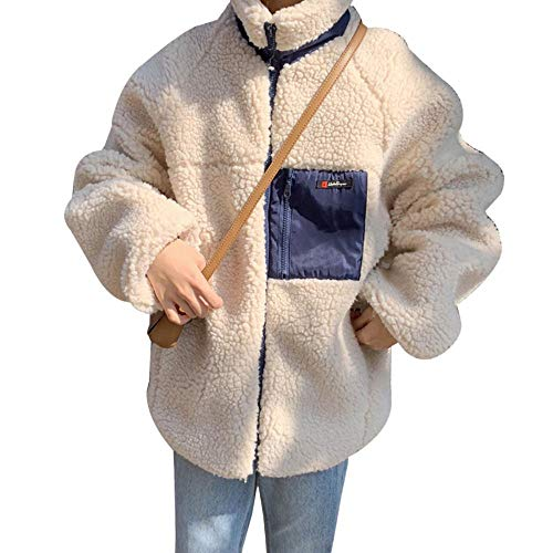 JANQ ボアジャケット レディース ボアブルゾン フリースジャケット コート もこもこ ボアコート 厚手 防寒 暖かい ゆったり 可愛い カジュアル 女性 ファッション おしゃれ アウトドア 秋冬 人気 通勤 通学 学生