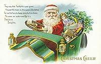 クリスマスCheerシーンとサンタ車を運転する 9 x 12 Art Print LANT-17444-9x12