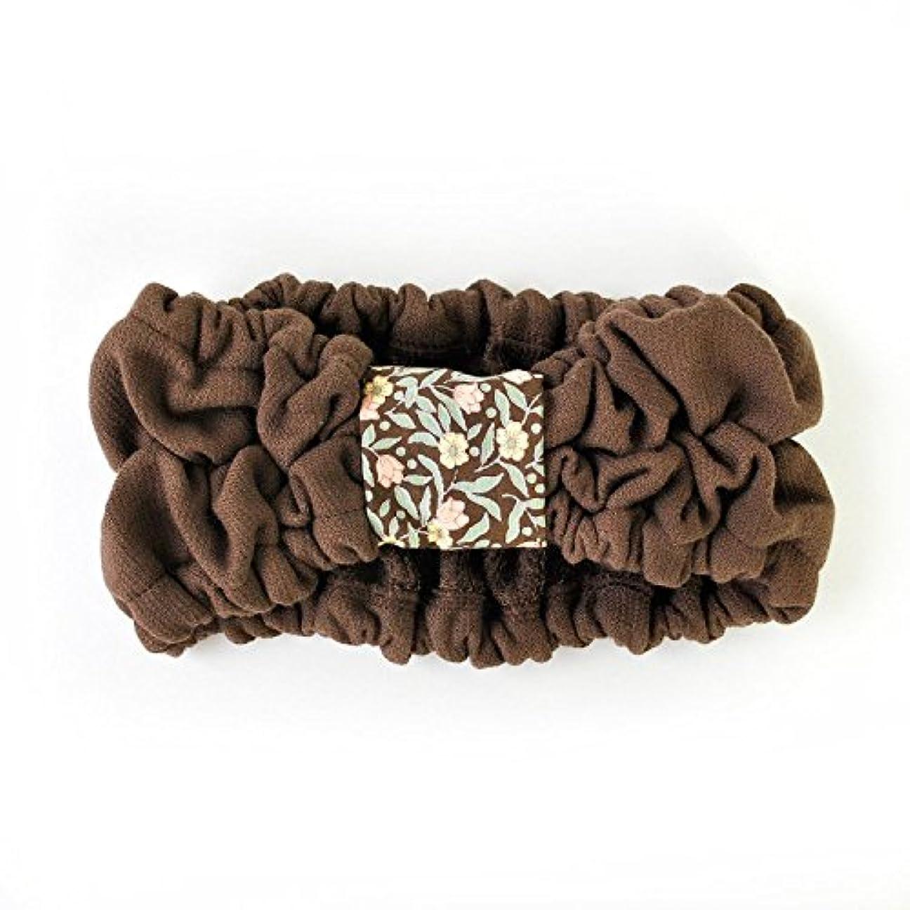 葉を集める地上のベーリング海峡ブルーム スピードライ ヘアバンド 日本製 (大人?子供 兼用)  チョコレート spBand_c