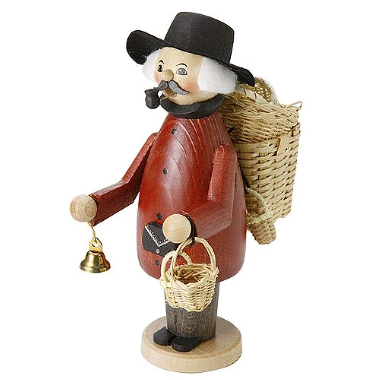 褒賞テザービスケットkuhnert(クーネルト) パイプ人形香炉 150×200mm 「バスケット売り」