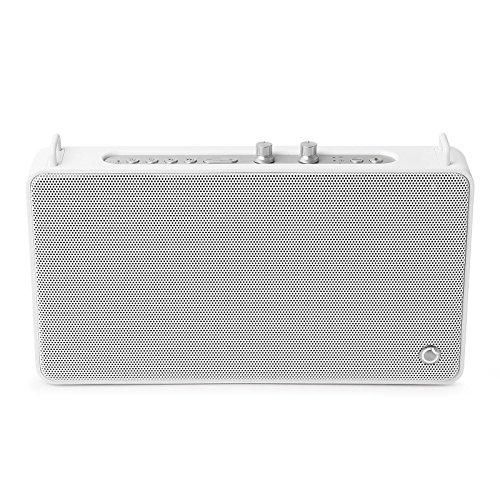 GGMM ポータブルスピーカー WiFiスピーカー Bluetoothスピーカー 高音質 ステレオスピーカー アンプ四つ 20W出力 15時間連続再生 低音と高音独立調整 内蔵マイク付き 通話可能 Alexa音声認識機能搭載 マルチルーム対応 ワイヤレス スマート スピーカー E5 (WiFi+Bluetooth, ホワイト)