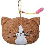 鴻池剛と猫のぽんた フェイスマスコットキーチェーン (ノーマル) 全長12.5cm