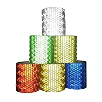 Viewm Reflective Tape 6 Rolls Safety Warning Tapes 2 inch × 3.28 yard / 5cm × 3m (Multicolored) [並行輸入品]