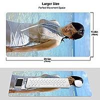 大型 ゲーミング マウスパッド ?瀬はるか13 3D柄プリント マウスパッド ゲーミングマウスパッド 高級感 おしゃれ マウスパッド 水で洗える 耐久性が良い 防水 滑り止めゴム底 マウスパッド