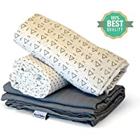 Receiving Blanket by Rench Babies - Muslin Swaddle Blankets for Boys & Girls by Rench Babies