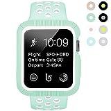 BRG apple watch バンド とapple watchケース のセット apple watch series1 apple watch series 2 用のアップルウォッチバンドとアップルウォッチ ケースのセット (38mm,ライトグリーン/白色)