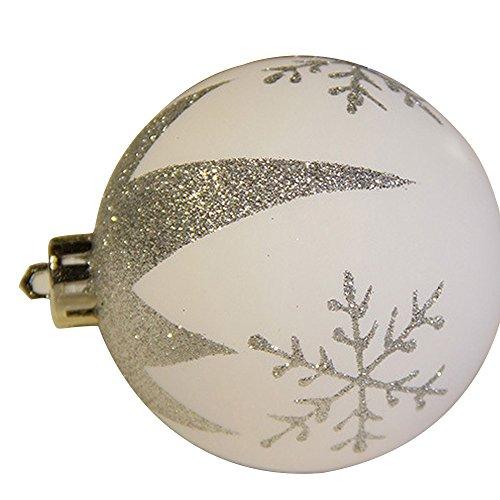 クリスマス ボール パーティ装飾 飾り キラキラ  オーナメント デコレーション 24個入  銀白色
