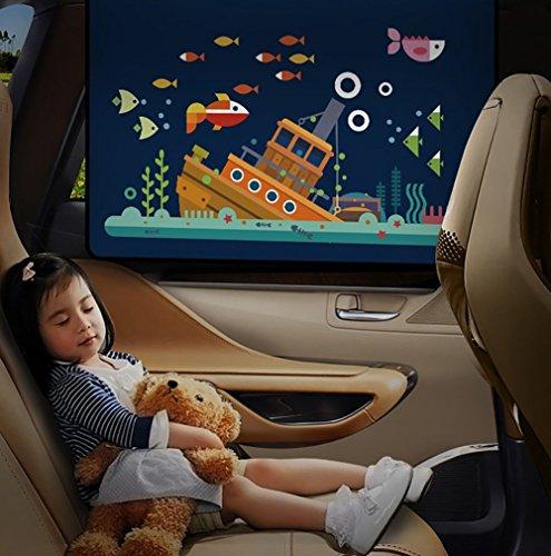 VIYOR 車用カーテン 日よけ 後部座席 車窓サンシェード