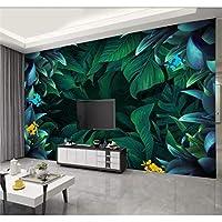Mingld カスタム壁紙シンプルでモダンなHd植物木板の背景の壁の装飾-400X280Cm