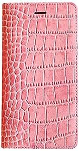 【日本正規代理店品】GAZE iPhone 6s/6 レザーケース 天然牛革 Vivid Croco Diary ピンク ダイアリータイプ GZ3979i6