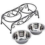 ペット 食器 食事 台 ご飯入れ フード 猫 犬 フィーダー ボウル セット ステンレス スタンド付き 小型犬 中型犬 小動物