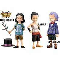 One Piece DX Figure ~ THE GRANDLINE CHILDREN ~ vol.3 [Rob Lucci & Jabra & Supandamu] 3 set (japan import) by Banpresto [並行輸入品]
