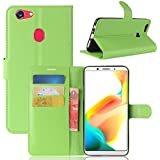for Oppo A73 / F5 Wallet Leather Card Holder Flip PU Case Cover (Green)