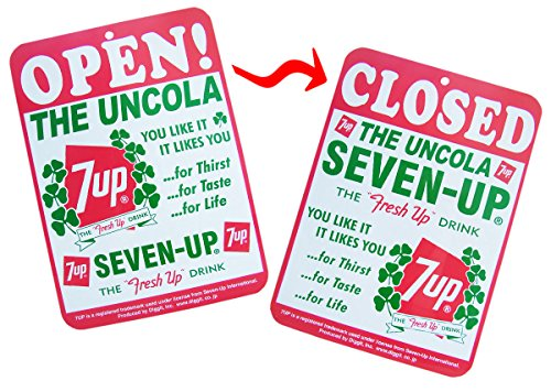 7-UP OPEN/CLOSED SIGN BOARD A ...