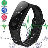 Smart Bracelet Fitness Tracker ECG Heart Rate/Blood Pressure Monitor,Waterproof Activity Tracker Smart Watch Sleep Monitor Pedometer Smart Wristband for Android Phone and IOS IPhone