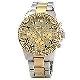 adidas 時計 Eleoption GNDメンズDiamond Quartz Watch with Decorative sub-dialsステンレススチールバンド