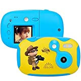 1.44 inch Digital Video Camera Creative DIY Camera for Kids with Soft Silicone Protective Shell 1080P HD Sport Learn Mini Camera Camcorder for Boys Girls Gifts (Color : Blue)