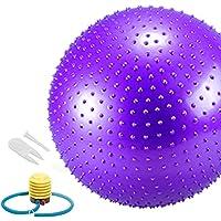PAMASE 耐久ヨガボール バランスボール ダイエットボール ポンプ付き 55cm 65cm イボイボ エクササイズ アンチバースト仕様 エクササイズボール ジム 家 オフィスなどに適用