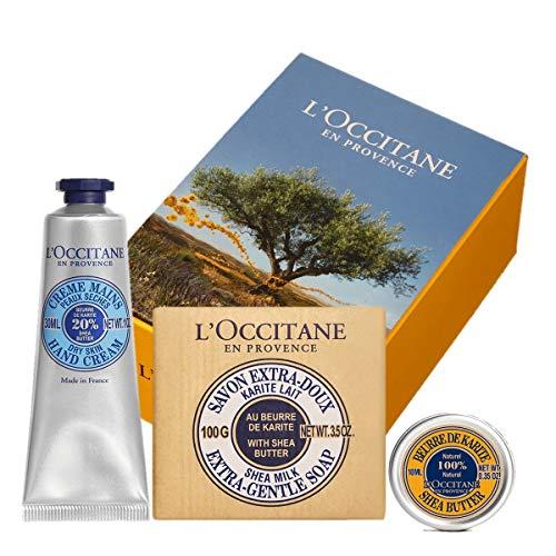 ロクシタン(L'OCCITANE) シア モイスチャ―セット(ハンドクリーム+シアバター+ソープ) 30ml+100g+10ml