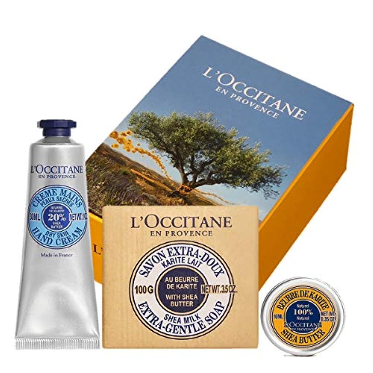 ブラウザ一侮辱ロクシタン(L'OCCITANE) シア モイスチャ―セット(ハンドクリーム+シアバター+ソープ) 30ml+100g+10ml