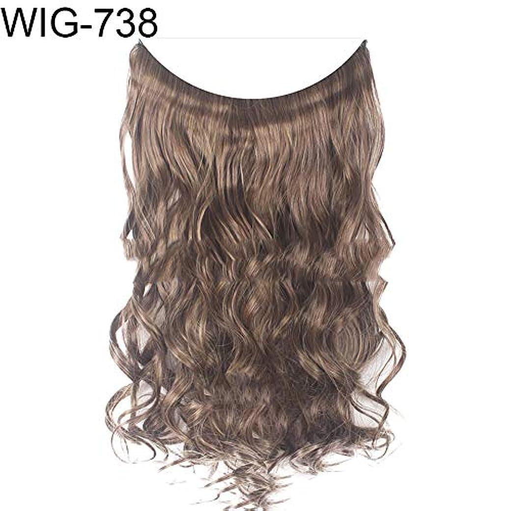 くぼみテロサイレントslQinjiansav女性ウィッグ修理ツール女性高温繊維長いストレートカーリーウィッグヘアエクステンションヘアピース