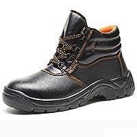 [Florai-JP] メンズ 安全靴 作業靴 短靴 ワーキングシューズ セーフティーシューズ レースアップ 先芯入り 鋼芯 刺す叩く防止 耐滑 耐油 防水 耐磨耗 衝撃吸収 黒 ブラック 22.5-28.0cm