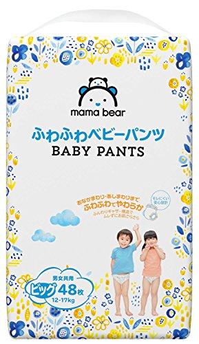 『[Amazonブランド]Mama Bear ふわふわベビーパンツ ビッグ(12-17kg) 48枚×3パック』の1枚目の画像