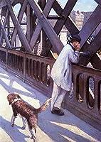 手描き-キャンバスの油絵 - L Europe Le Pont De Gustave Caillebotte 芸術 作品 洋画 ウォールアートデコレーション -サイズ14
