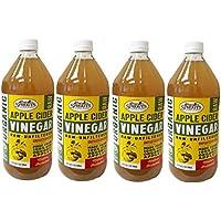 SPROUTS, オーガニック アップル サイダー(Apple Cider Vinegar) 946 ml (4個) [並行輸入品]