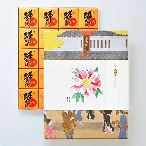 お菓子の香梅 誉の陣太鼓20個入 肥後六花のし紙 【肥後芍薬】 スイーツ 1570g