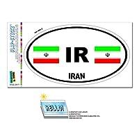 イラン国旗 - IRユーロ楕円形 SLAP-STICKZ(TM)プレミアムステッカー
