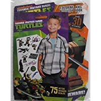 Teenage Mutant Ninja Turtles Bundle T 64 Page Shaped Coloring and Activity Book with Stickers and 75 Tmnt Temporary Tattoos.Nickelodeon. TMNT by Nickelodeon Teenage Mutant Ninja Turtles [並行輸入品]