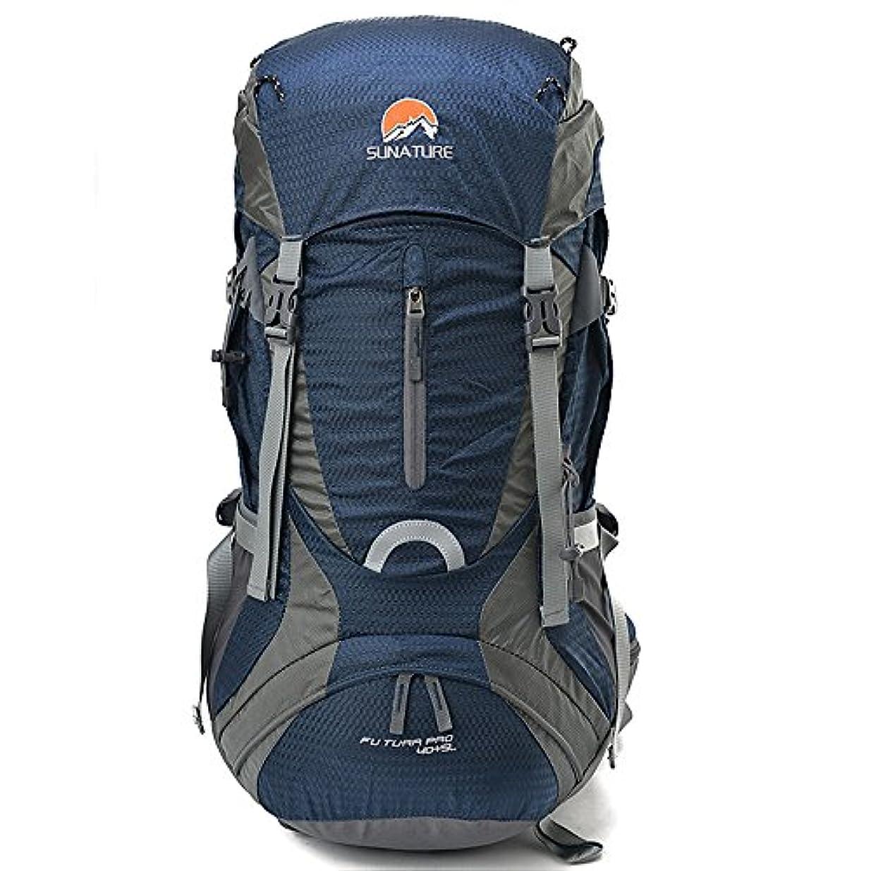 温度計石曖昧なYHDD バックパック大規模な多機能旅行ウォーキングで野生キャンプレジャースポーツニュートラルは屋外での使用に適して (色 : 青)