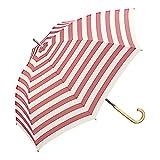 w.p.c 雨傘 ボーダー'17 長傘 手開き ピンク 58cm 3023-07