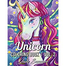 Unicorn Coloring Book: A Fantasy Coloring Book with Magical Unicorns, Beautiful Flowers, and Relaxing Fantasy Scenes