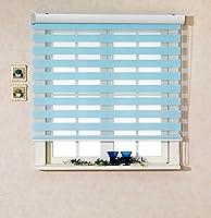 サイズ オーダーメイド, [Winsharp Basic, skyblue, W 90 x H 120 (CM)] 調光ロールアップ スクリーン 窓 プリーツ ブラインド & カーテン 簾