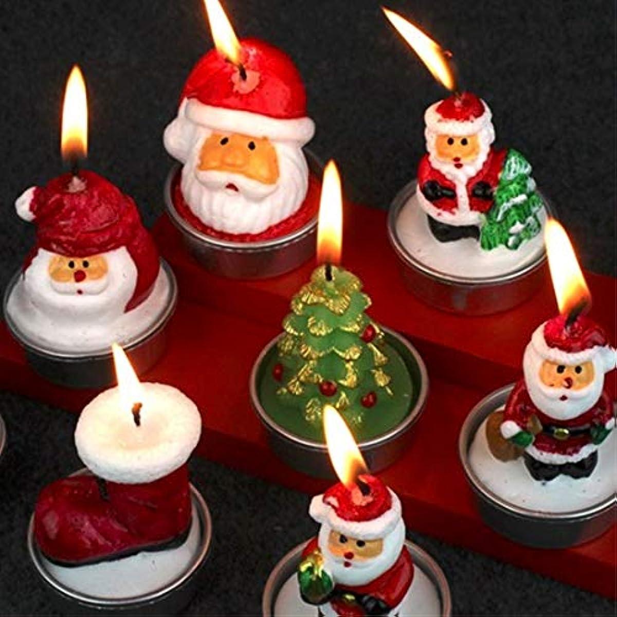 ラップトップレモン染色Labos 家族の休日の装飾パーティーの装飾新年の装飾用品に使用クリスマスサンタクロースクリスマスキャンドル、ランダム配信