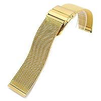 [エイト] 腕時計用 メッシュステンレスベルト ローズゴールド 20mm EMSB202 [並行輸入品]