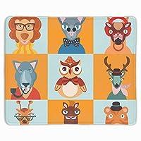 流行に敏感な動物アイコンフラットマウスパッドおしゃれに便利ゲームオフィス厚いマウスパッドおしゃれに便利装飾されたマウスパッドおしゃれに便利