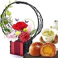 誕生日 の プレゼント 人気商品 花 バラ おいもや まんじゅう お菓子 花とスイーツ お祝いギフト プリザーブドフラワ…