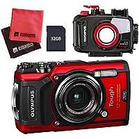 【セット】 OLYMPUS オリンパス コンパクトデジタルカメラ Tough TG-5 レッド&SD32GB&防水プロテクター&クロス