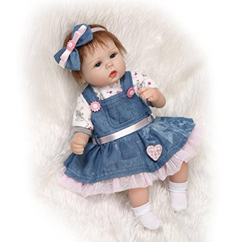 NPKDOLLシミュレーションRebornベビー人形ソフトSiliconeビニール18インチ45 cm Lifelike Vivid Toy Boy Girl rd45 C046l Eyes Open
