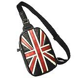 ボディバッグ 斜めがけバッグ 英国 国旗 ユニオンジャック 柄 レザー調