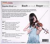 J.S. バッハ & レーガー: 無伴奏ヴァイオリン作品集 (Bach & Reger : Works for violin solo / Sayaka Shoji violin) (2CD) [日本語解説付輸入盤]