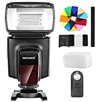 Neewer TT560フラッシュスピードライト、12枚カラーフィルター、IRワイヤレスリモコンキット Canon Nikon Panasonic Olympusと他のDSLRカメラに対応 ハードディフューザーとマイクロファイバークリーニングクロスに付き