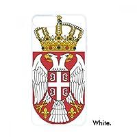 スルビヤ国家エンブレムの国 iphoneの8/7プラスホワイトphonecaseアップルカバーケースギフトの場合