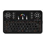 Best Docoolerカメラ - Docooler Q9 RF ワイヤレスキーボード ブラックライトキーボード(タッチパッド付き)マウスコンボ Android TV BOX Review