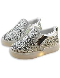 LED ライト シューズ キッズ レザー シューズ 女の子 点滅 ジュニア 上履き スリップオン 子供靴 キラキラ 輝く カジュアル 通学 シューズ