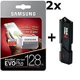 2パック???Samsung 128?GB microSD XCクラス10?Grade 3?uhs-3モバイルメモリカード( mb-mc128ga ) Lot of 2?with超高速USB 3.0?MemoryMarket MicroSD & SDメモリ